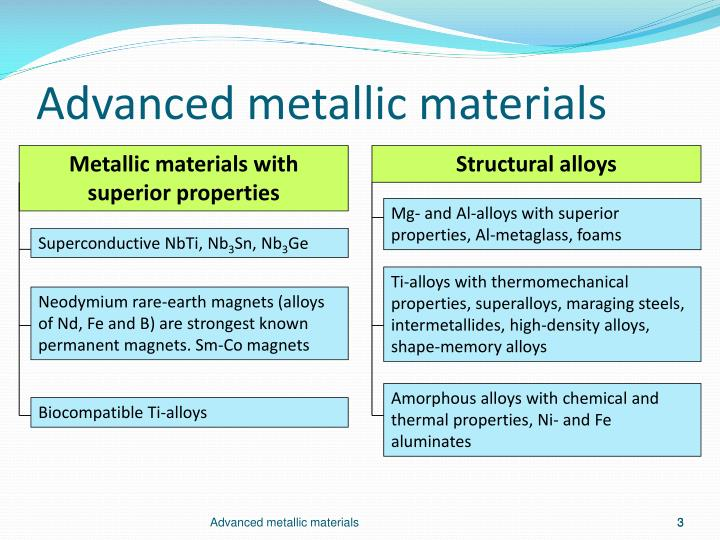Metallic materials with superior properties