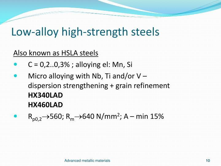 Low-alloy high-strength steels