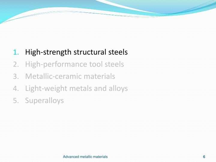 High-strength structural steels