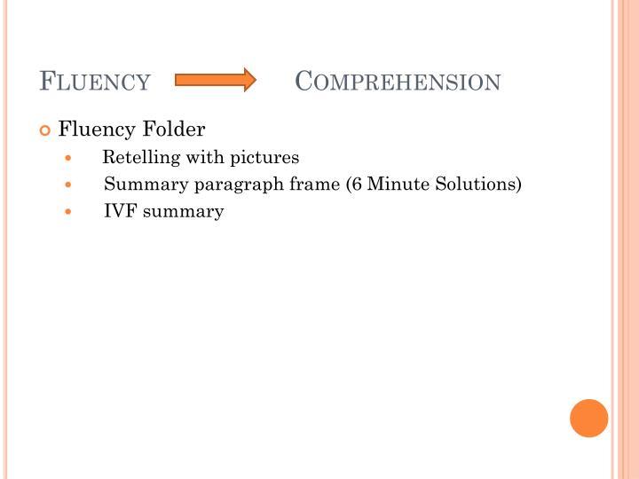FluencyComprehension