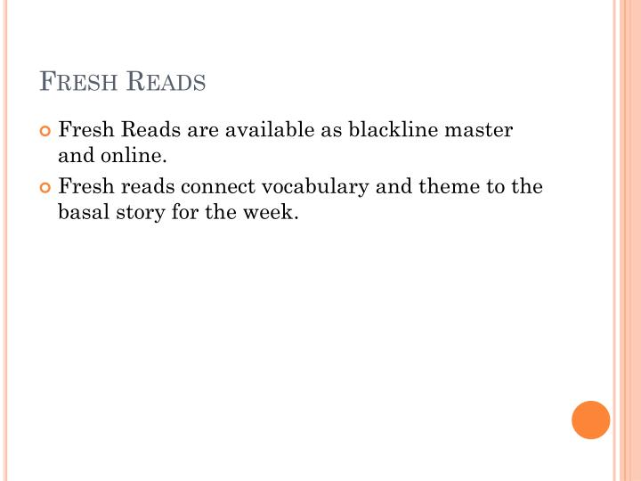 Fresh Reads