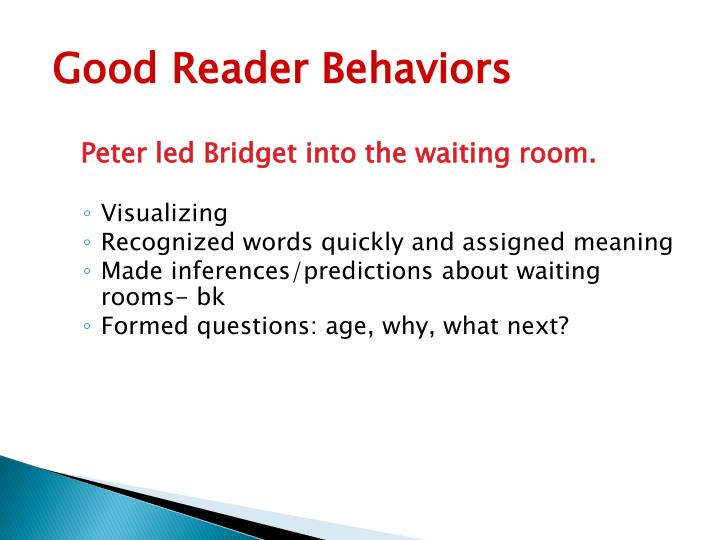 Good Reader Behaviors