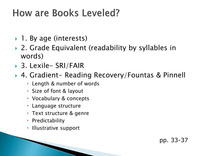 How are Books Leveled?