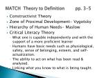 match theory to definition pp 3 5