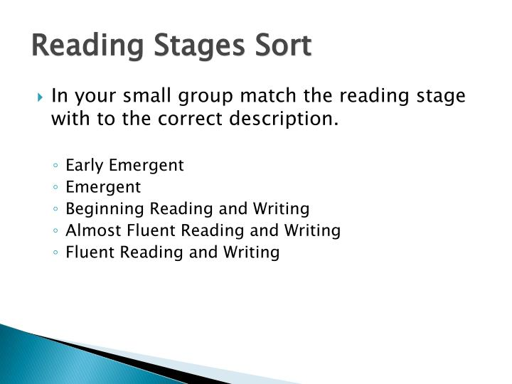 Reading Stages Sort