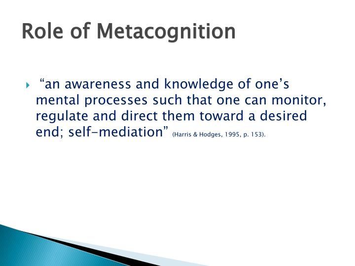 Role of Metacognition