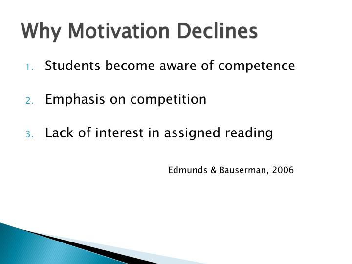 Why Motivation Declines