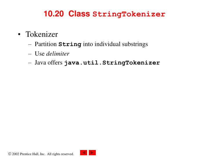 10.20  Class