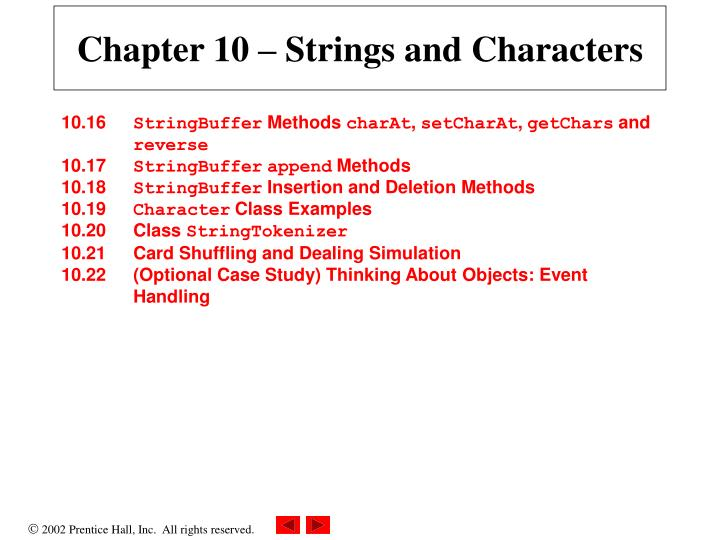 Chapter 10 strings and characters1