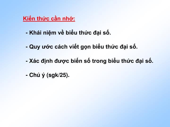 Kin thc cn nh: