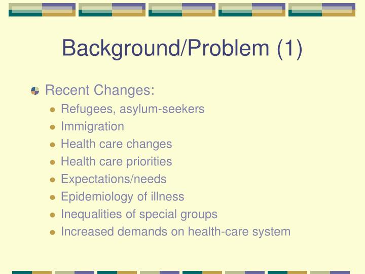 Background/Problem (1)