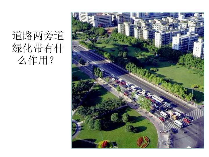 道路两旁道绿化带有什么作用?