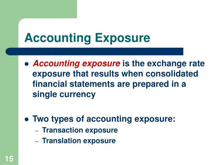 Accounting Exposure