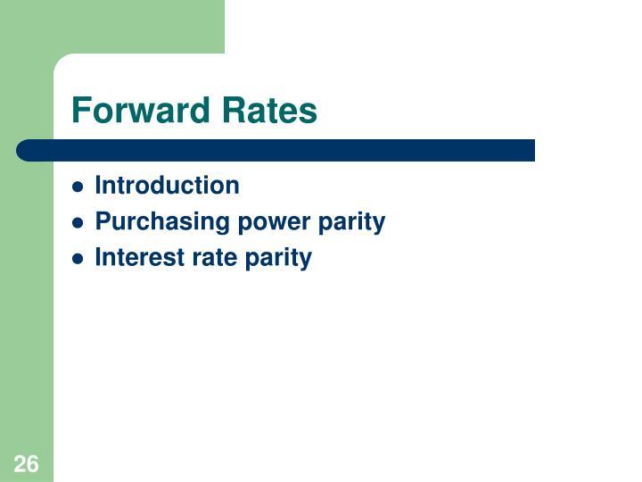 Forward Rates