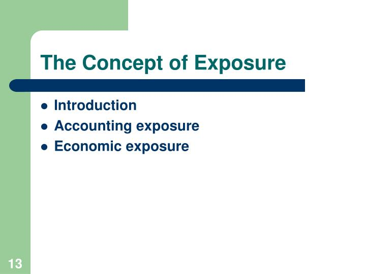 The Concept of Exposure