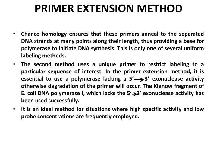 PRIMER EXTENSION METHOD
