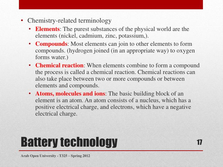Chemistry-related terminology