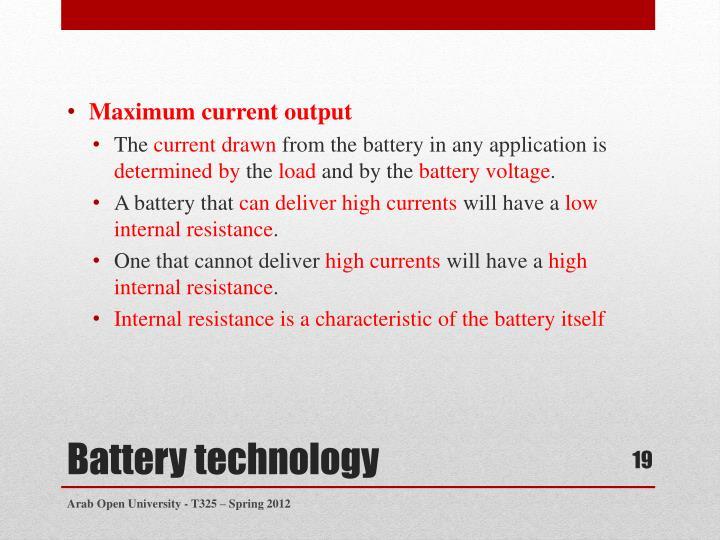 Maximum current output
