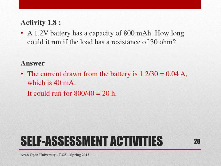 Activity 1.8 :