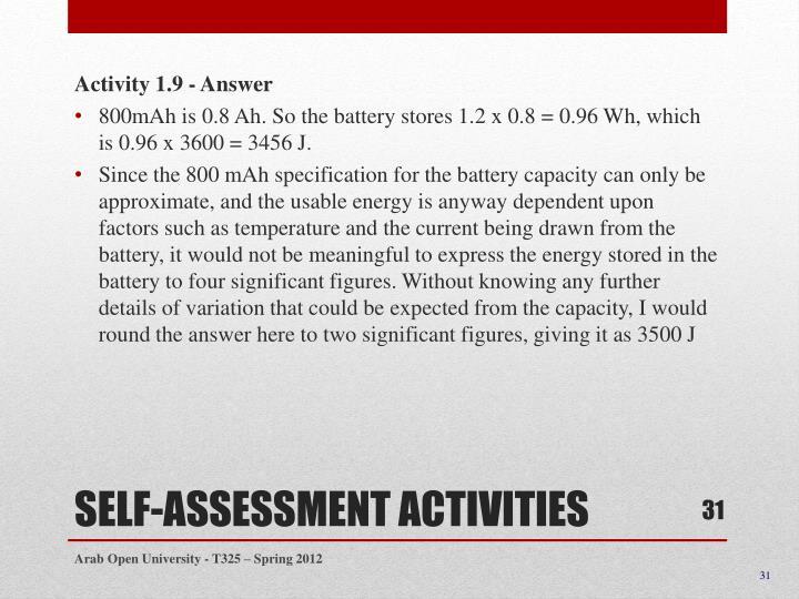 Activity 1.9 - Answer