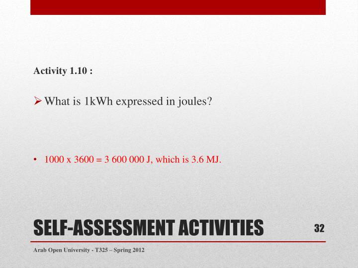 Activity 1.10 :