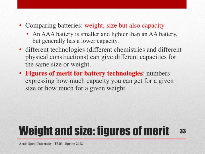 Comparing batteries: