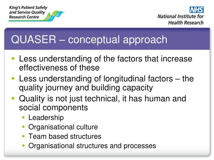 QUASER – conceptual approach