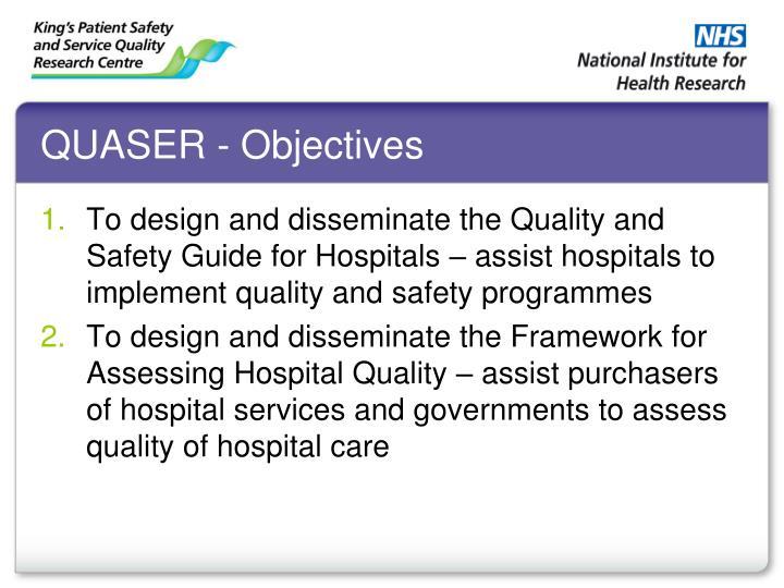QUASER - Objectives