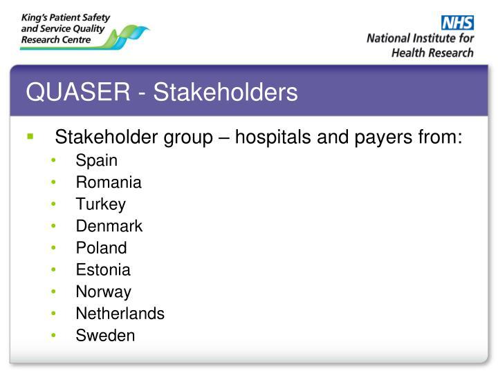 QUASER - Stakeholders