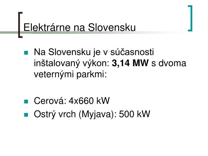 Elektrárne na Slovensku