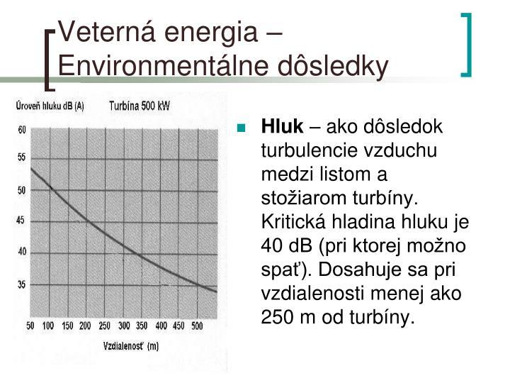 Veterná energia – Environmentálne dôsledky