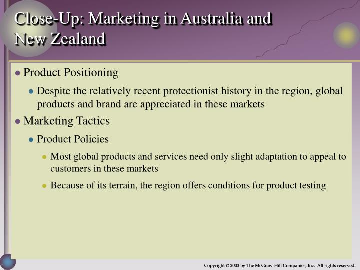 Close-Up: Marketing in Australia and