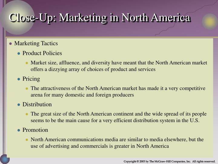 Close-Up: Marketing in North America