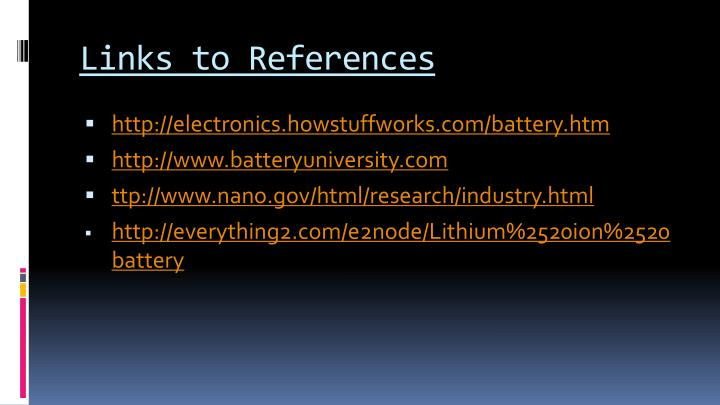 Links to References