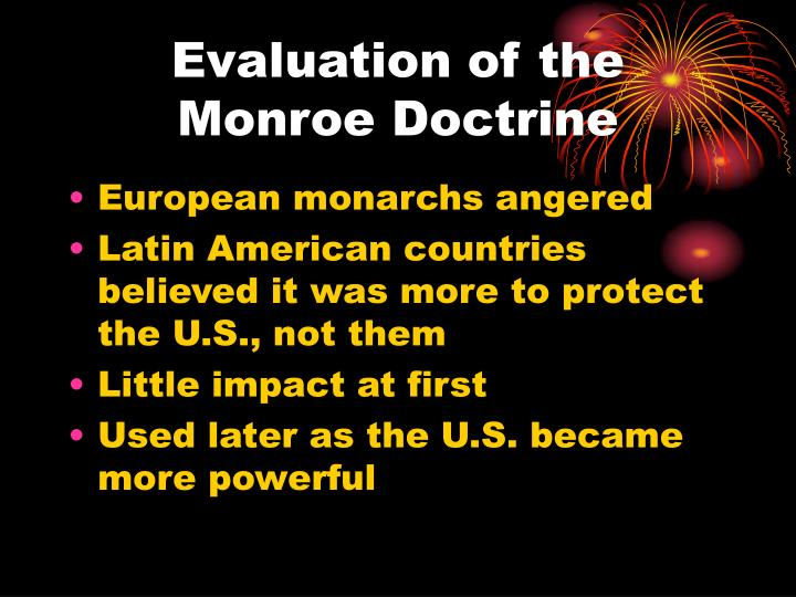Evaluation of the Monroe Doctrine