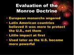 evaluation of the monroe doctrine