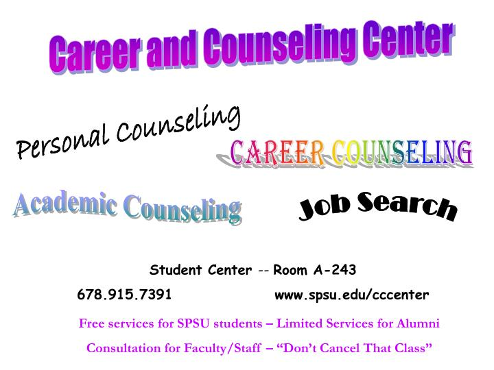 Career and Counseling Center