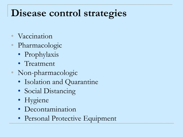 Disease control strategies