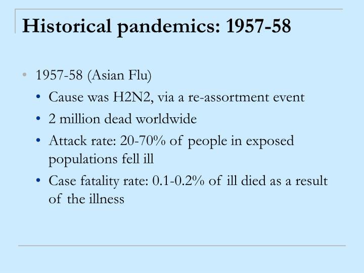 Historical pandemics: 1957-58