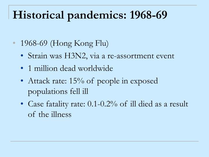 Historical pandemics: 1968-69