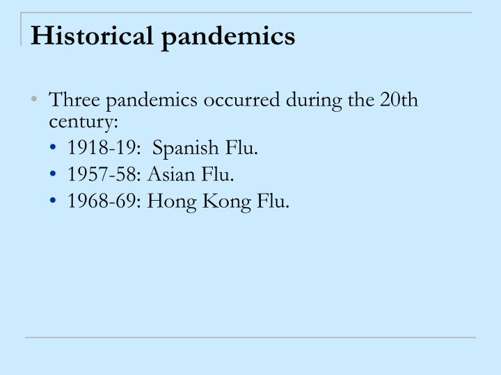 Historical pandemics