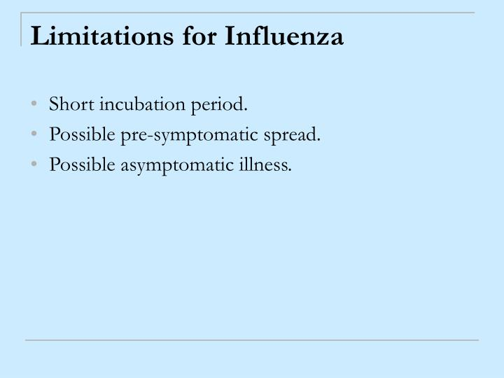 Limitations for Influenza