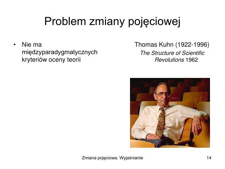 Nie ma międzyparadygmatycznych kryteriów oceny teorii