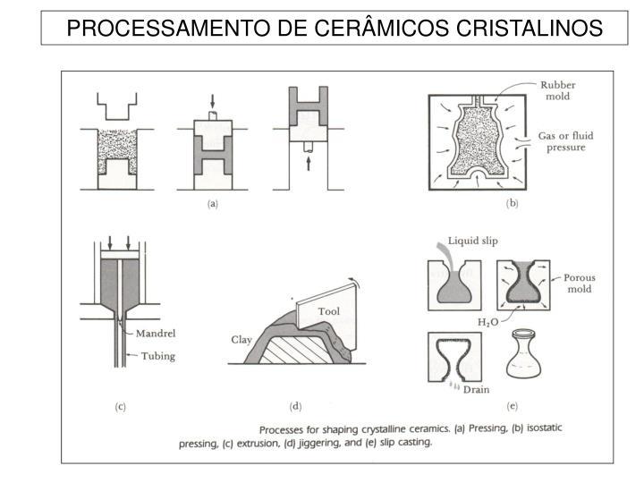 PROCESSAMENTO DE CERÂMICOS CRISTALINOS