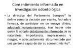 consentimiento informado en investigaci n odontol gica