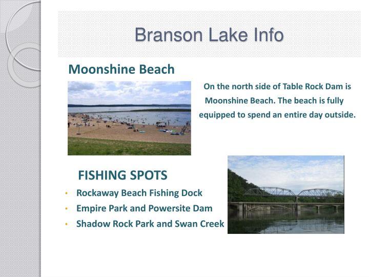 Branson Lake Info