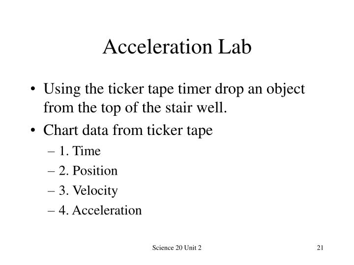 Acceleration Lab