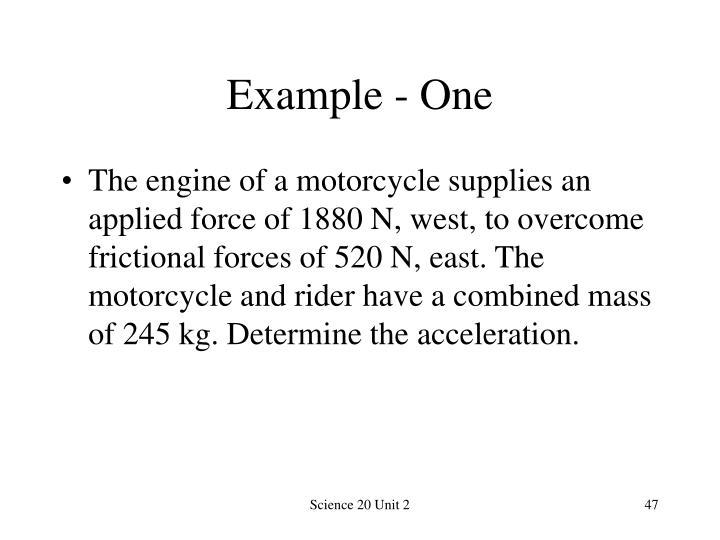 Example - One