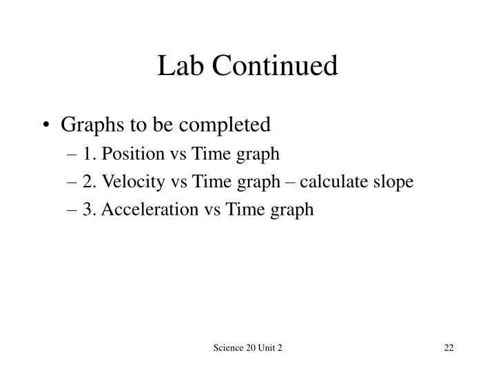 Lab Continued