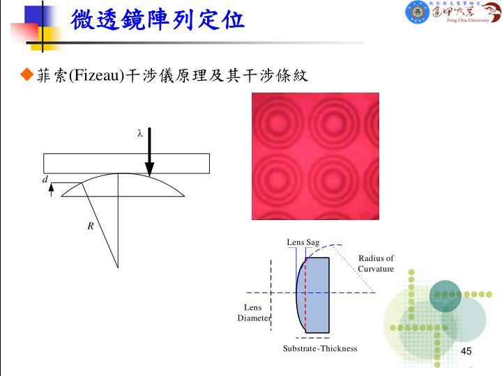 微透鏡陣列定位